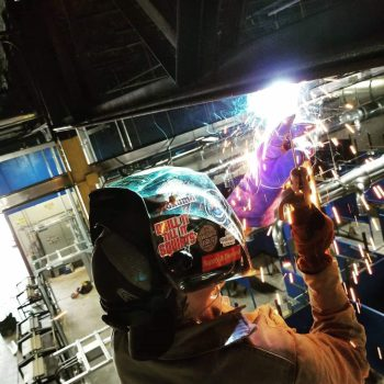 Welding student mastering their welder skills