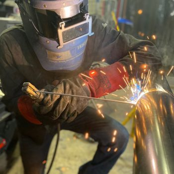 structural or pipe welder in the construction or industrial field