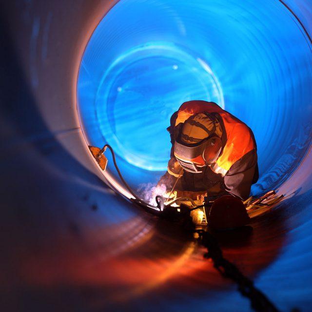 Welder that is welding. Becoming a Welder - Job Outlook